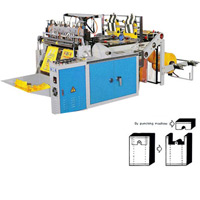 CWAAH Heat Sealing & Cutting Plastic Bag Making Machine with Two Photocells