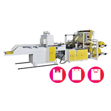 CWA2+P-SV  Fully Automatic Double Layer (4 Lines) T-Shirt Bag Cutting & Sealing Machine