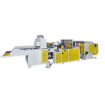 CW-1000P3-SV1 Fully Automatic 3 Lines T-Shirt Bags Making Machine