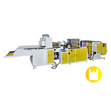 CW-1000P3-SV1,Super High Speed Computerized Servo Transmission System Fully Automatic Three Lines Three Rolls T-Shirt Bags Making Machine