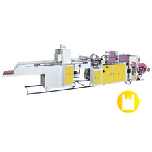 CW-500P-SV1 Super High Speed Fully Automatic T-shirt Bag Making Machine With 1 Photocell & Single Servo Motor Control