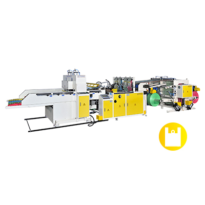 CW-1100P4-SV / CW-1200P4-SV Super High Speed Fully Automatic 2 or 4 Lines T-shirt Bag Making Machine with 2 Photo Cells & Double Servo Motors Control