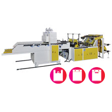 CWAA+P-SV Fully Automatic High Speed Single Layer Printed T-shirt Bag Making Machine with 2 Servo Motors Control